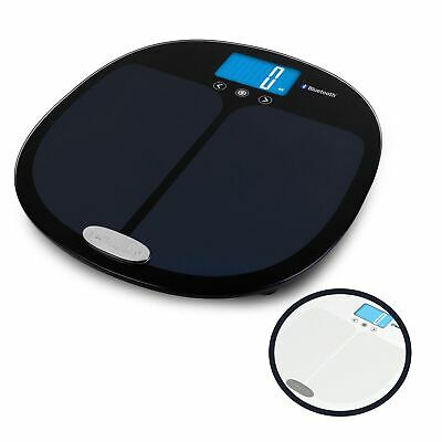 £46.55 • Buy Salter 9192 Bathroom Scale, Curved, Bluetooth, Smart Analyser, Black Or White