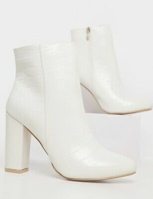 £19 • Buy BRAND NEW - PLT White Croc Ankle Boots - Size 7