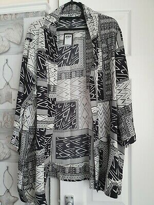 £5 • Buy New With Tags, Ladies Black And White Aztec Patterned Kimono/jacket Size...