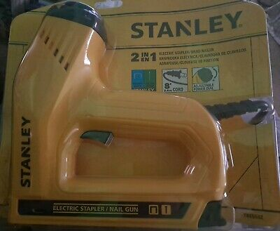 £28.92 • Buy STANLEY Nail Gun, Electric Staple, 1/2-Inch, 9/16-Inch And 5/8-Inch Brads SEALED