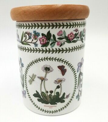 £8.50 • Buy Portmeirion Variations Storage Pot With A Wooden Lid  Bellis Perennis