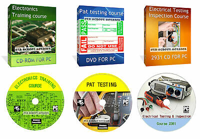 £4.99 • Buy Electronics Training Course, Complete Pat Testing, 2391 Inspection On DVD Disk