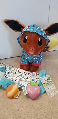 $86.14 • Buy Build A Bear Eevee Pokemon With Cape Sitrus Berry Pecha Berry And Sealed Card