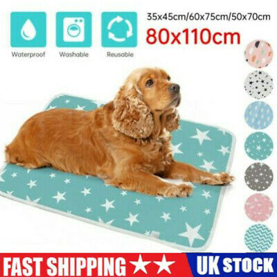£11.49 • Buy Large Pet Pee Pads Mats Puppy Training Pads Toilet Wee Cat Dog Supplies Washable