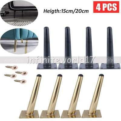 £15.85 • Buy 4Pcs Metal Furniture Legs Feet Replacement Table Bed Sofa Cabinet Chair 15/20cm