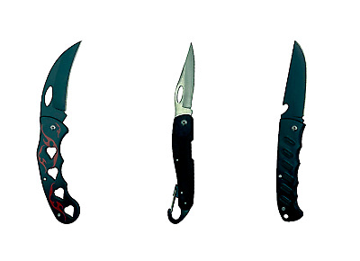 AU6.95 • Buy Stainless Steel Pocket Knife Outdoor Camping Survival Fishing Hunting Folding