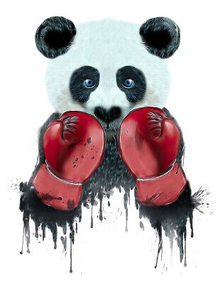 £3.50 • Buy Panda Boxing A4 Print Picture Poster Wall Art Home Decor Unframed New Gift