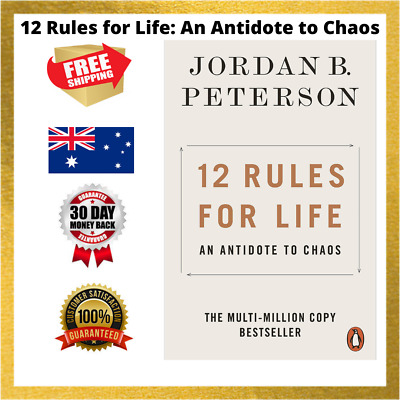 AU15.79 • Buy 12 Rules For Life: An Antidote To Chaos By Jordan B Peterson PAPERBACK AUSTRALIA