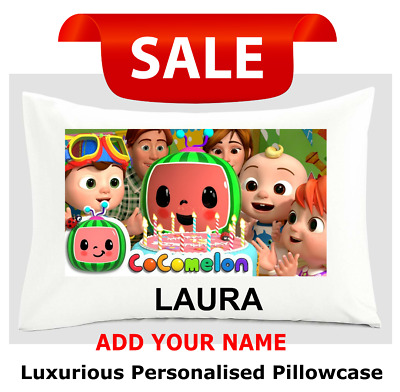 £5.99 • Buy Personalised Cocomelon Pillow Cover Pillow Case 48x75 Cm Gift Add Your Name