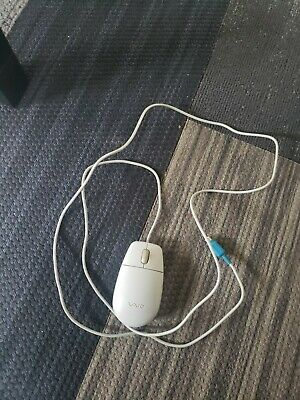 £20 • Buy Vintage Sony Vaio Mouse 2-Button Scroll PS/2 Gray- Tested SONY VAIO Old Skool