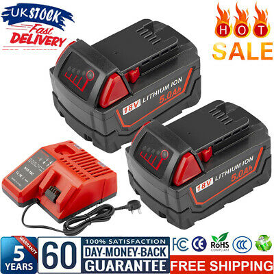 £51.28 • Buy For Milwaukee M18 18Volt Extended Capacity Battery Charger Lithium XC 48-11-1860