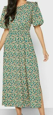 £20 • Buy  Topshop Green /yellow  Floral Dress Midi Length  Size 14 Brand New With Tags