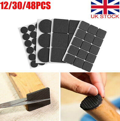 £2.83 • Buy Non Slip Self Adhesive Anti Scratch Chair Table Leg Pads Rubber Floor Protectors