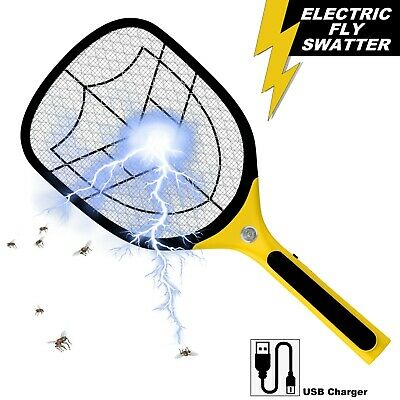 £11.95 • Buy Bug Zapper Racket Fly Killer Electric Wasp Mosquito Insect Pest Swatter Bat USB