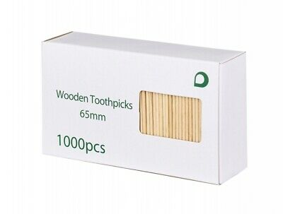 £6.90 • Buy 1000pcs Double Pointed Oral Care Toothpick Wooden Bamboo Tooth Picks Sticks NEW
