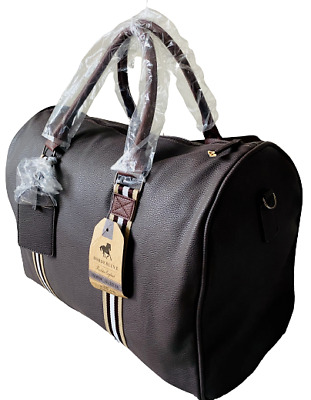 £29.99 • Buy Large Real Leather Holdall Luggage Weekend Travel Overnight Gym Bag