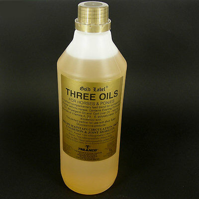 £16.95 • Buy DOG CAT WORKING DOGS THREE OIL, COD LIVER WHEATGERM, EVENING PRIMROSE 1 Litre