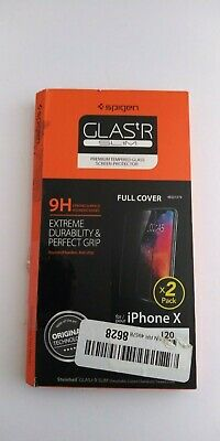 AU13.67 • Buy Spigen Tempered Glass Screen Protector 2 Pack For IPhone X