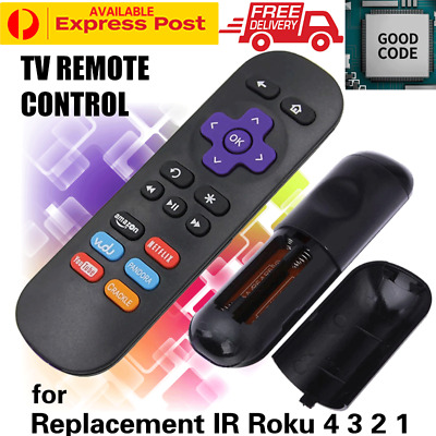 AU9.10 • Buy Replacement  Remote Control For Roku 4 3 2 1 LT HD Telstra TV TV2 Netflix Button
