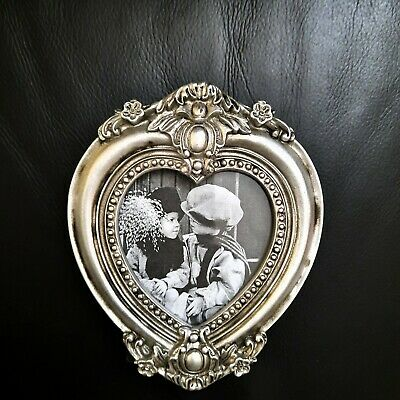 £4.99 • Buy SMALL Silver Heart Love Photo Frame French Ornate Baroque Rococo Wedding Gift