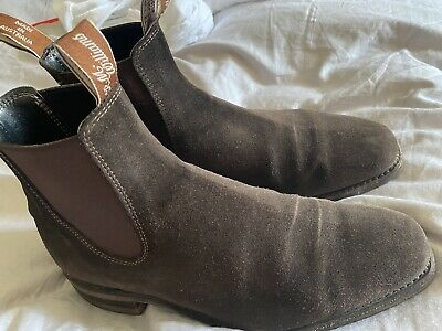 £200 • Buy Rm Williams Craftsman Boots In Brown Suede UK 7.5