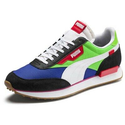 £49.95 • Buy Puma Rider Play On Green Blue Neon UK 8.5 US 9.5 Suede OG Style Fast Retro Clyde