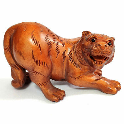 £24.99 • Buy M7688 - Collectible 20 Years Old 2   Hand Carved Boxwood Netsuke : Lovely Tiger