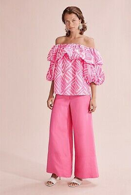 AU65 • Buy COUNTRY ROAD Beautiful Pop Pink Off Shoulder Blouse Top Size 8, 16 RRP $179