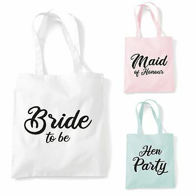 £4.95 • Buy Wedding Favour Tote Bags Ring Big Day Gift Present Dress