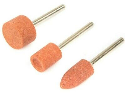 £3.79 • Buy 3PC ROTARY TOOL GRINDING STONE SET DIY Craft Drill Dremel Bits For Metal Steel