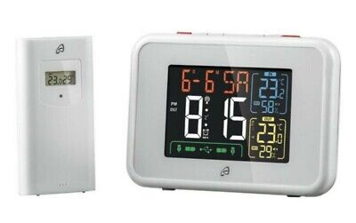£15 • Buy Auriol - Radio Controlled Weather Station - Model: HG60618-MSF - White