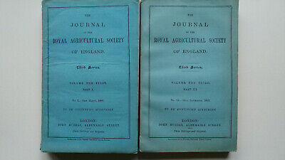 £29 • Buy 2 X The Journal Of The Royal Agricultural Society Of England; Mar.1890, Sept1892