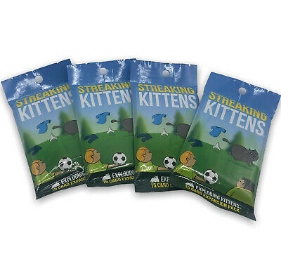 AU27.31 • Buy 4 Streaking Kittens Exploding Kittens 15 Card Second Expansion Packs Card Game