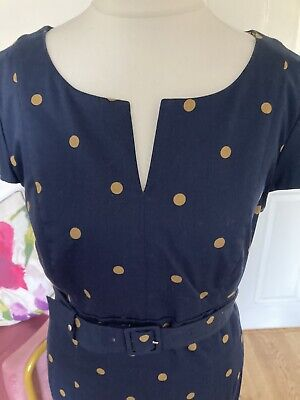 £24.99 • Buy Gorgeous Designer Boden Wedding/party/holiday Pencil Spotty Dress Size 12r