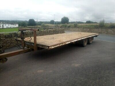 £1100 • Buy 23' Twin Axle Bale Trailer Flatbed Low Loader Flat Hay Silage Straw Cart Tractor