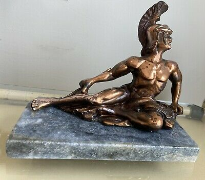 £25 • Buy Greek Mythology Copper Plated Statue / Figurine Of Achilles Nice Patina