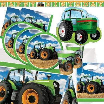 AU7.13 • Buy Tractor Party Supplies Tableware, Decorations, Balloons & Party Bags