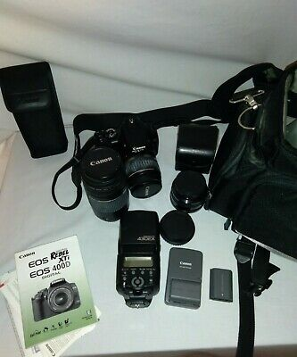 £254.60 • Buy Canon EOS Digital Rebel XTi / 400D 10.1 MP  DS126151- With Camera Bag, Lenses