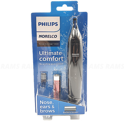 AU27.97 • Buy Philips Norelco 1000 Nose Trimmer Ears Eyebrow Hair Grooming Cordless Battery