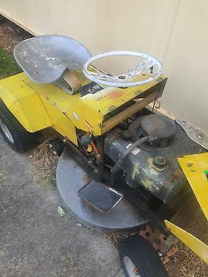 AU442 • Buy Greenfield Ride On Mower Yellow Electric Start