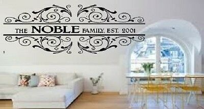£18.50 • Buy Personalised Family Name And Year Wedding  Present Wall Art Decal Sticker
