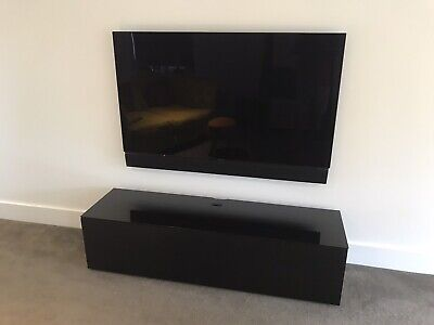 £150 • Buy Sonorous ST160 TV Cabinet For TVs Up To 70', Black Glass Top And Door
