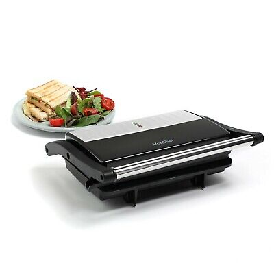 £20.99 • Buy VonShef 2 Slice Sandwich Toaster & Grill Stainless Steel 1000W - Panini Press