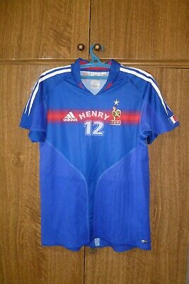 £14.52 • Buy France Adidas Football Shirt Home 2004/2005/2006 #12 Henry Soccer Youth Size XLB
