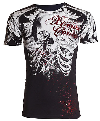 £17.55 • Buy Xtreme Couture Affliction Mens T-Shirt PERSIMMON Skull Black Biker S-3XL $40
