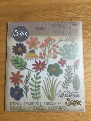 £9.50 • Buy Sizzix Tim Holtz Alterations Dies 662700 - Funky Floral 1