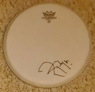 £169.99 • Buy Roger Taylor 'Queen' Hand Signed In Person Remo 10  White Drum Skin.