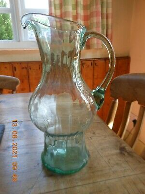£12.99 • Buy Lovely Antique Hand Blown Victorian Glass Water Jug / Vase Circa 1850