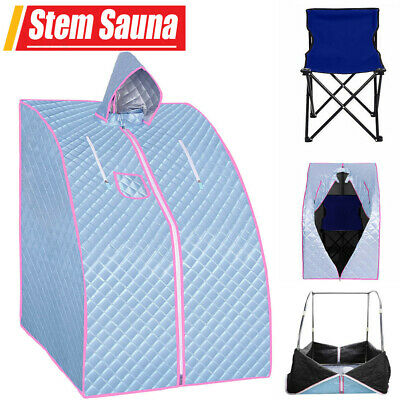 £66.98 • Buy Portable Steam Sauna Spa Room Full Body Slimming Detox Therapy Tent With Chair