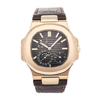 £75650.15 • Buy Patek Philippe Nautilus Moon Phases Auto Rose Gold Mens Strap Watch 5712R-001
